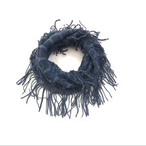 Infinity Scarf - Blue with fringe